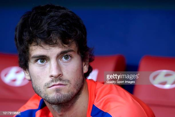 Roberto Olabe of Atletico de Madrid looks on prior to the International Champions Cup match between Atletico de Madrid and FC Internazionale at Wanda...