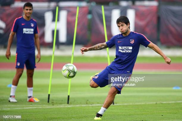 Roberto Olabe of Atletico Madrid in action during training ahead of the International Champions Cup match between Paris Saint Germain and Atletico...