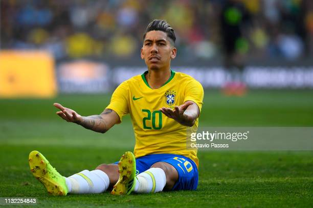 Roberto Oliveira of Brazil in action during the international friendly match between Brazil and Panama at Estadio do Dragao on March 23 2019 in Porto...
