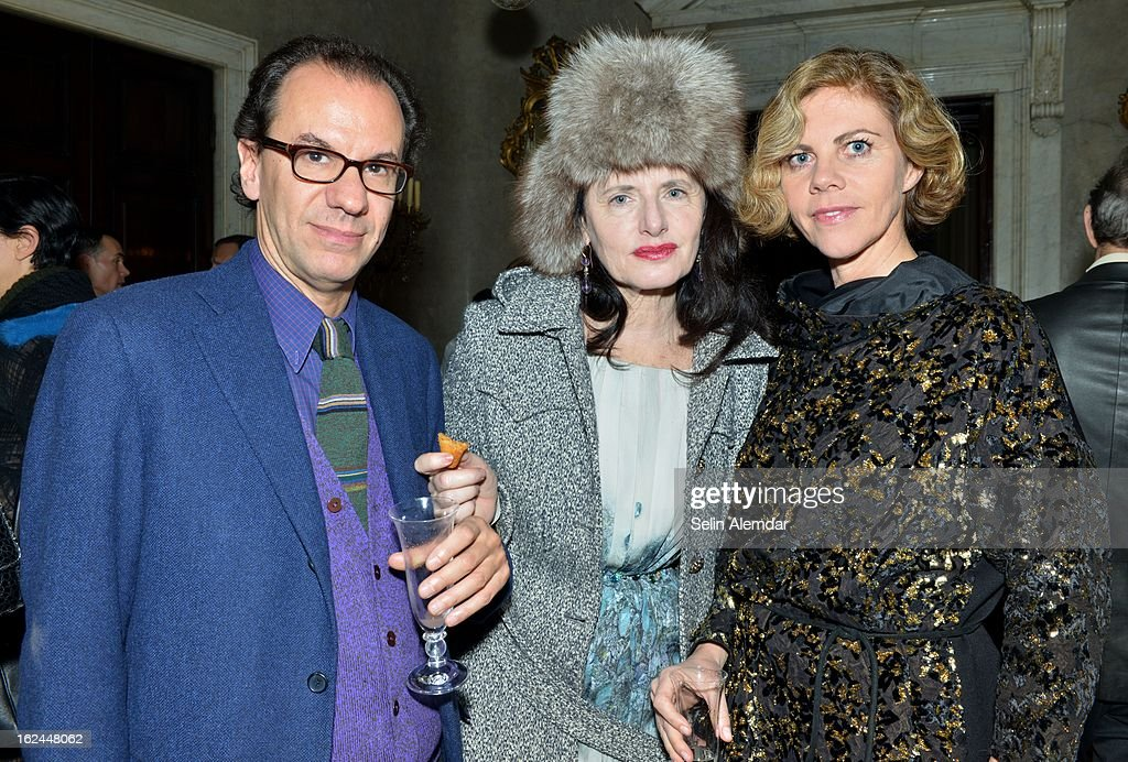 Roberto Peregalli, Luisa Beccaria and Laura Sartori Rimini attend Deborah Needleman's New York Times inaugural issue party during Milan Fashion Week Womenswear Fall/Winter 2013/14 on February 23, 2013 in Milan, Italy.