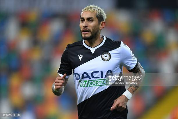 Roberto Pereyra of Udinese Calcio looks on during the Serie A match between Udinese Calcio and Benevento Calcio at Dacia Arena on December 23, 2020...