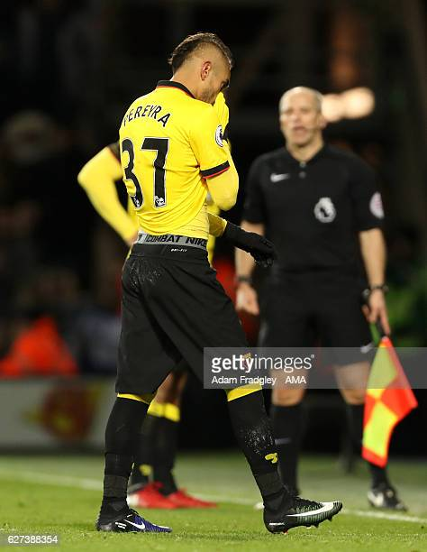 Roberto Pereyra of Watford is sent off during the Premier League match between West Bromwich Albion and Watford at The Hawthorns on December 3 2016...
