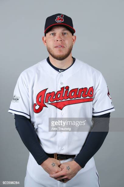 Roberto Perez of the Cleveland Indians poses during Photo Day on Wednesday February 21 2018 at Goodyear Ballpark in Goodyear Arizona