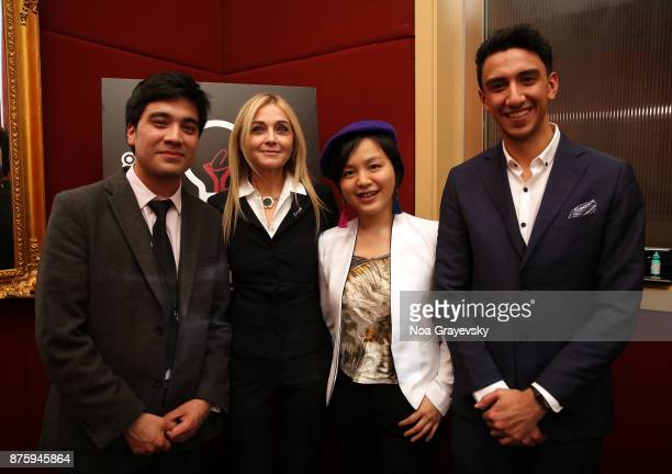 Roberto Pino Almeyda Michal Grayevsky President JCS International Ewing Luo Eisa Alhabib pose for a photo at the JCSI Young Creatives Award Ceremony...