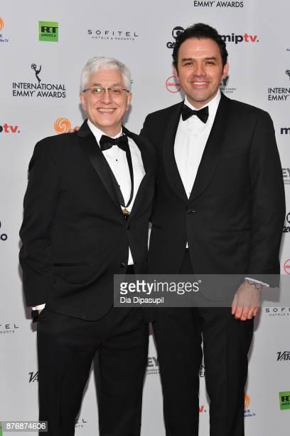 Roberto Rios and Fernando Rovzar of Sr Avila nominated for NonEnglish language US Primetime Program at the 45th International Emmy Awards at New York...