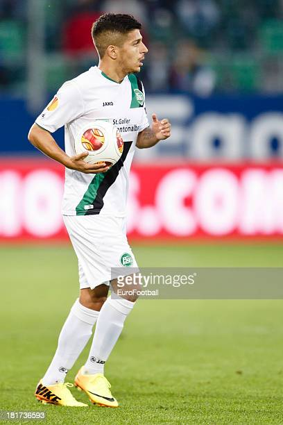 Roberto Rodriguez of FC St Gallen in action during the UEFA Europa League group stage match between FC St Gallen and FC Kuban Krasnodar held on...