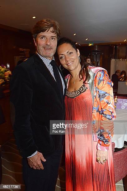 Roberto Rosselini and Hermine de Clermont Tonnerre attend the Penati Al Baretto Restaurant Opening Dinner at the Hotel de Vigny on April 2, 2014 in...