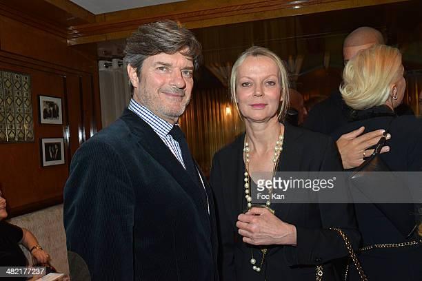 Roberto Rossellini and Helene de Yougoslavie attend the Penati Al Baretto Restaurant Opening Dinner at the Hotel de Vigny on April 2, 2014 in Paris,...