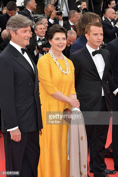 Roberto Rossellini and Isabella Rossellini attend the 'Sicario' premiere during the 68th annual Cannes Film Festival on May 19, 2015 in Cannes,...