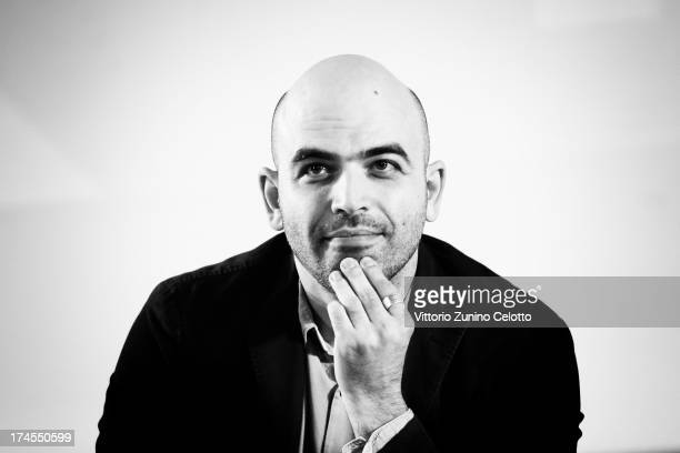 Roberto Saviano attends 2013 Giffoni Film Festival press conference on July 27 2013 in Giffoni Valle Piana Italy