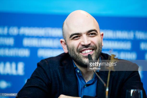 Roberto Saviano attends the 'Piranhas' Press Conference during the 69th Berlinale International Film Festival Berlin at Grand Hyatt Hotel on February...