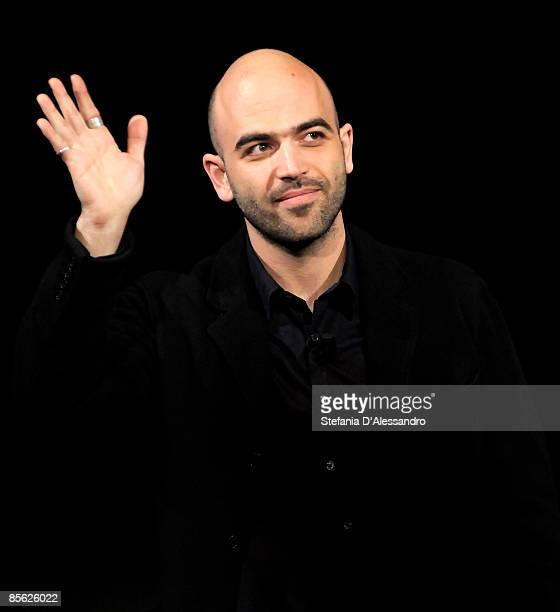 Roberto Saviano author of the book 'GOMORRA' attends 'Che Tempo Che Fa' Italian Tv Show held at Rai Studios on March 25 2009 in Milan Italy