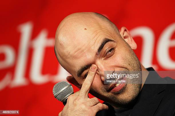 Roberto Saviano returns to his hometown Naples after seven years to present his new book ZeroZeroZero in the home of the Feltrinelli via St Thomas...