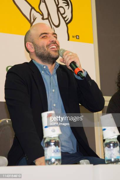 Roberto Saviano seen presenting his new book Author of At sea there are no taxis during the event The International Book Fair is the most important...