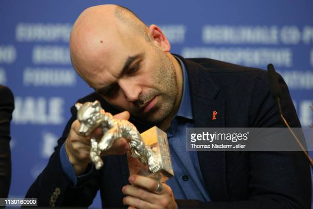 Roberto Saviano winner of the Silver Bear for Best Screenplay attends the award winners press conference during the 69th Berlinale International Film...