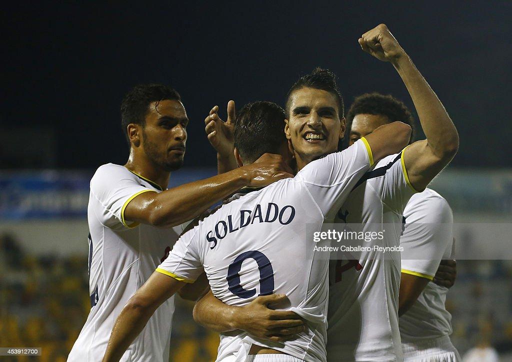 AEL Limassol FC v  Tottenham Hotspur - UEFA Europa League Qualifying Play-Offs Round: First Leg : News Photo