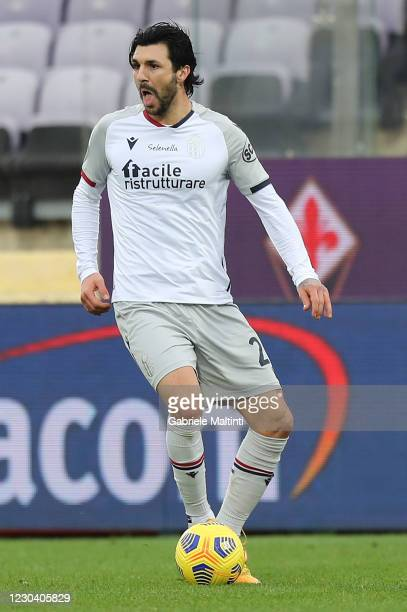 Roberto Soriano of Bologna FC in action during the Serie A match between ACF Fiorentina and Bologna FC at Stadio Artemio Franchi on January 3, 2021...