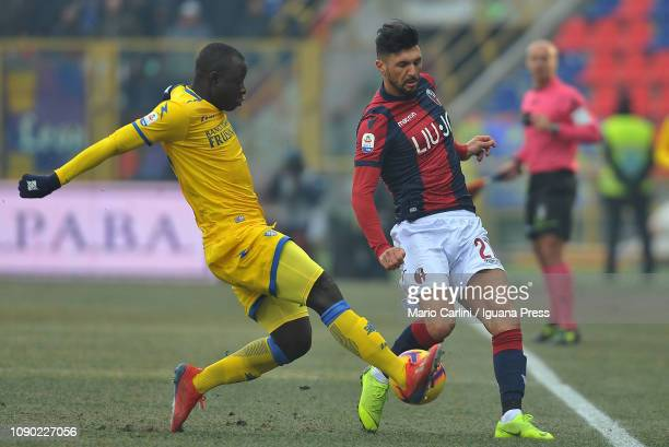 Roberto Soriano of Bologna FC in action during the Serie A match between Bologna FC and Frosinone Calcio at Stadio Renato Dall'Ara on January 27 2019...
