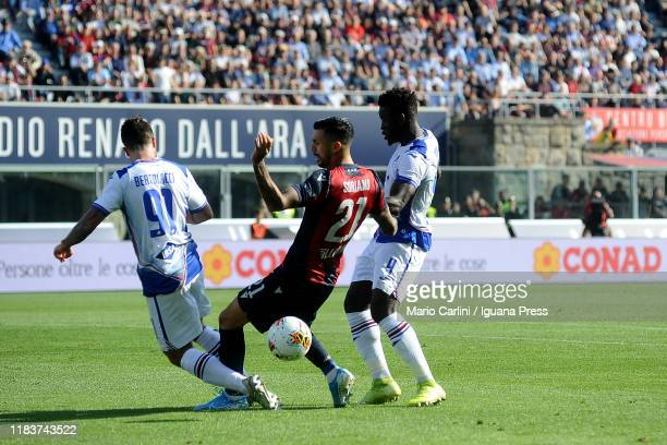 Roberto Soriano of Bologna FC in action during the Serie A match between Bologna FC and UC Sampdoria at Stadio Renato Dall'Ara on October 27 2019 in...
