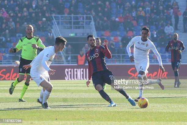 Roberto Soriano of Bologna FC in action during the Serie A match between Bologna FC and ACF Fiorentina at Stadio Renato Dall'Ara on January 06 2020...