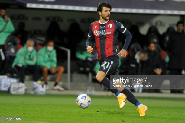 Roberto Soriano of Bologna FC in action during the Serie A match between Bologna FC and Parma Calcio at Stadio Renato Dall'Ara on September 28, 2020...