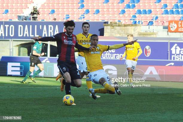 Roberto Soriano of Bologna FC in action during the Serie A match between Bologna FC and Udinese Calcio at Stadio Renato Dall'Ara on January 06, 2021...