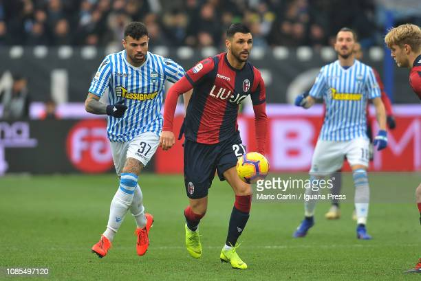 Roberto Soriano of Bologna FC in action during the Serie A match between SPAL and Bologna FC at Stadio Paolo Mazza on January 20 2019 in Ferrara Italy