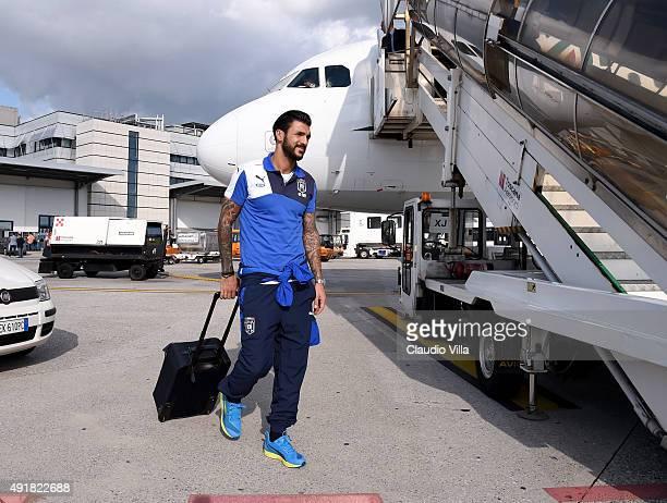 Roberto Soriano of Italy departs to Baku on October 8 2015 in Pisa Italy