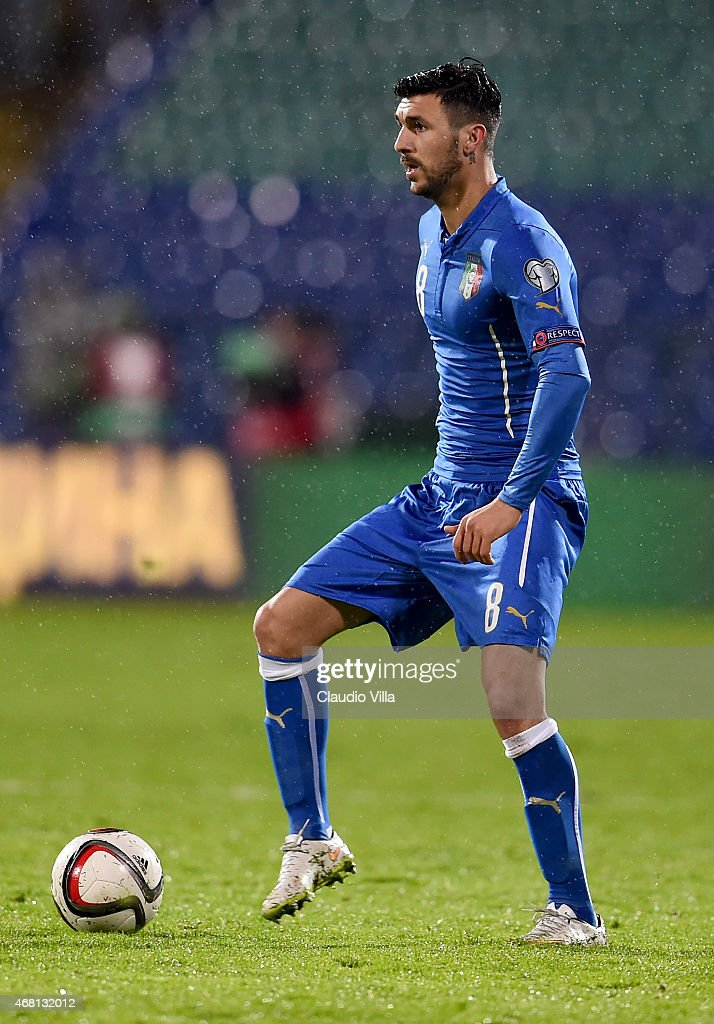 Roberto Soriano of Italy during the Euro 2016 Qualifier match between Bulgaria and Italy at Vasil Levski National Stadium on March 28, 2015 in Sofia, Bulgaria.