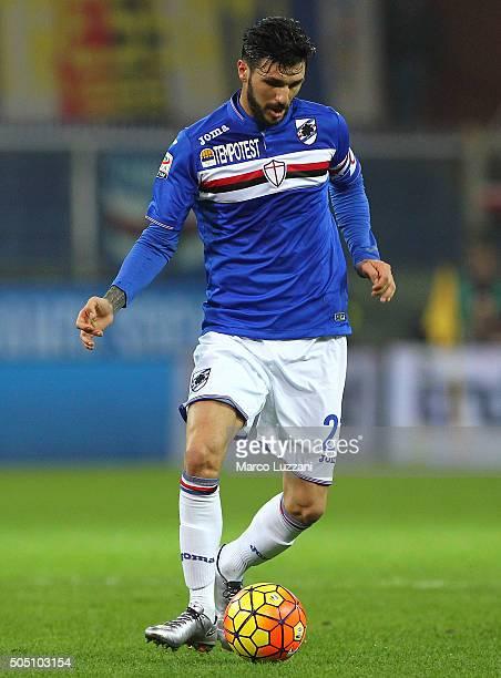 Roberto Soriano of UC Sampdoria in action during the Serie A match between UC Sampdoria and Juventus FC at Stadio Luigi Ferraris on January 10 2016...