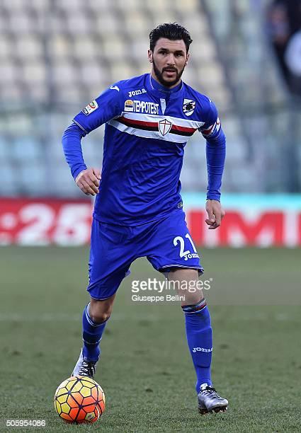 Roberto Soriano of UC Sampdoria in action during the Serie A match between Carpi FC v UC Sampdoria at Alberto Braglia Stadium on January 17 2016 in...