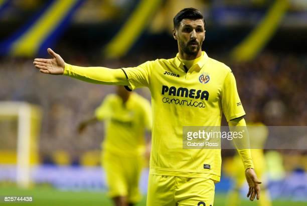 Roberto Soriano of Villarreal CF gestures during the international friendly match between Boca Juniors and Villarreal CF at Alberto J Armando Stadium...