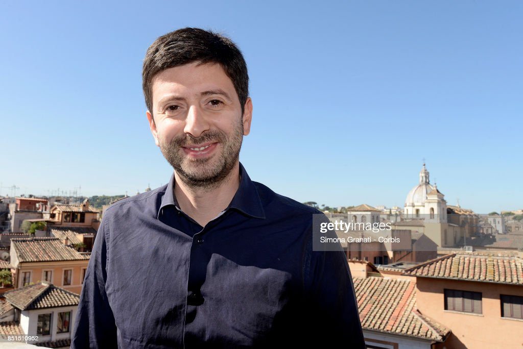 Roberto Speranza in the terrace of the Headquarter of the Movimento Democratici e progressisti (Democratic and Progressive Movement( in Via Zanardelli at the end of the meeting with Andrea Orlando,on September 22, 2017 in Rome, Italy.