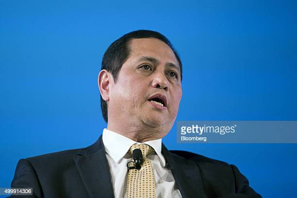 Roberto Tan the Philippines' national treasurer speaks at the Bloomberg ASEAN Business Summit in Bangkok Thailand on Friday Dec 4 2015 Business...