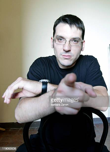 Roberto Tarenzi poses at a portrait session at Teatro Pavone during Umbria Jazz Festival on July 14 2011 in Perugia Italy