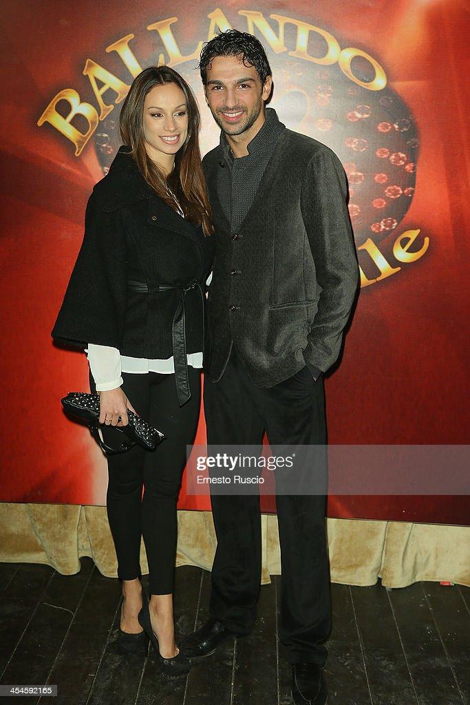 Roberto Totaro(R) and Francesca attend the 'Ballando con le stelle' 100th Episode Party at La Villa on December 9, 2013 in Rome, Italy.