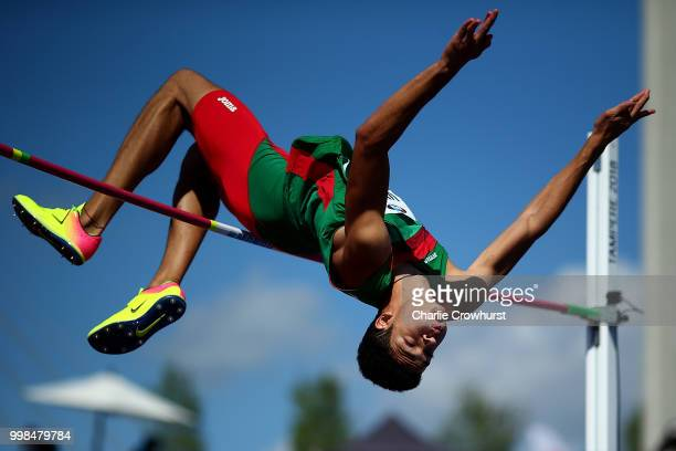 Roberto Vilches of Mexico in action during the final of the men's high jump on day five of The IAAF World U20 Championships on July 14, 2018 in...