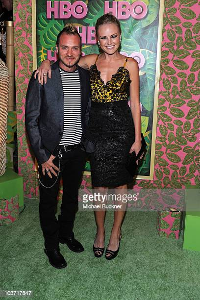 Roberto Zincone and actress Malin Akerman arrive at HBO's Annual Emmy Awards Post Award Reception at the Pacific Design Center on August 29, 2010 in...