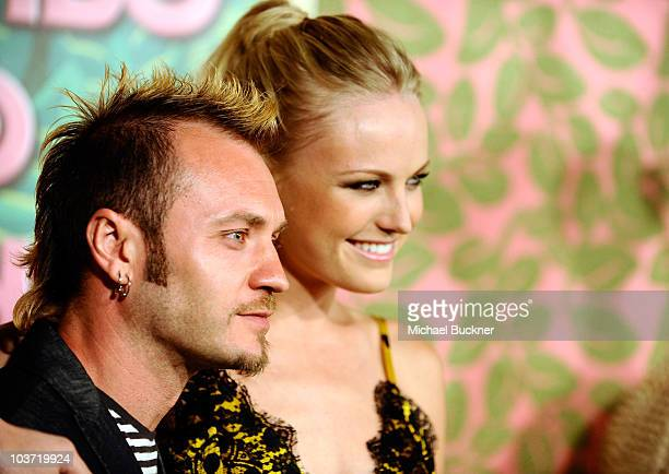 Roberto Zincone and actress Malin Akerman arrive at HBO's Annual Emmy Awards Post Award Reception at The Plaza at the Pacific Design Center on August...