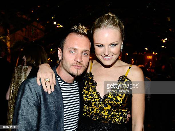 Roberto Zincone and actress Malin Akerman attend HBO's Annual Emmy Awards Post Award Reception at The Plaza at the Pacific Design Center on August 29...