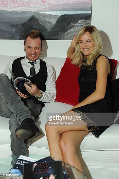 Roberto Zincone and Malin Akerman attend the fourth day of the 15th Annual Capri Hollywood International Film Festival on December 30, 2010 in Capri,...