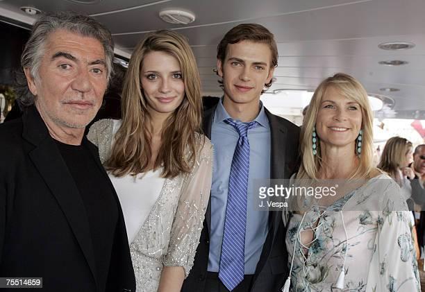 Roberton Cavalii, Mischa Barton, Hayden Christensen and Martha De Laurentiis at the Yacht Satine in Cannes, France.