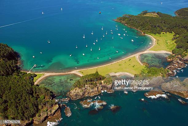 roberton island - northland new zealand stock pictures, royalty-free photos & images
