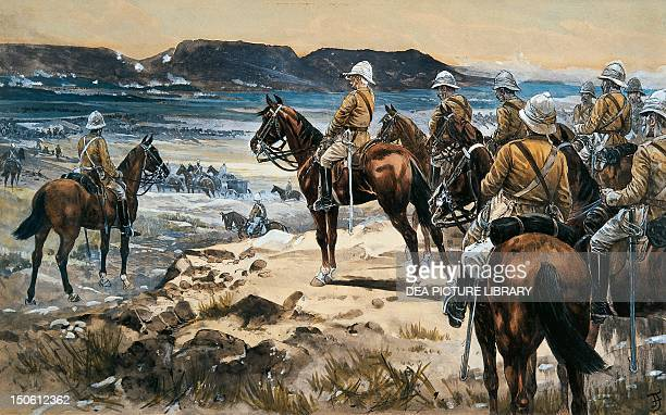 Roberts attending the Boers surrender to Paardersberg by Frank Feller watercolour Second AngloBoer South African 20th century