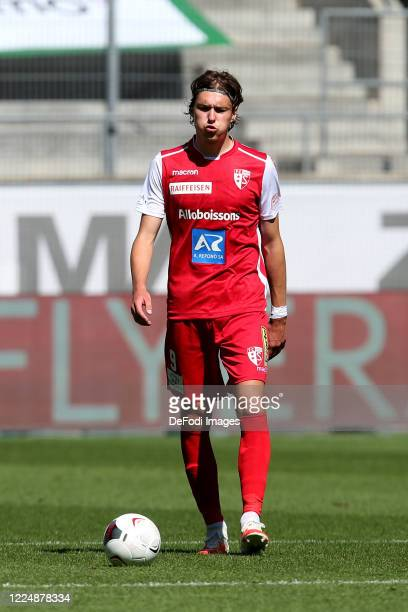 Roberts Uldrikis of FC Sion looks dejected during the Swiss Raiffeisen Super League match between FC St.Gallen and FC Sion at Kybunpark on July 5,...