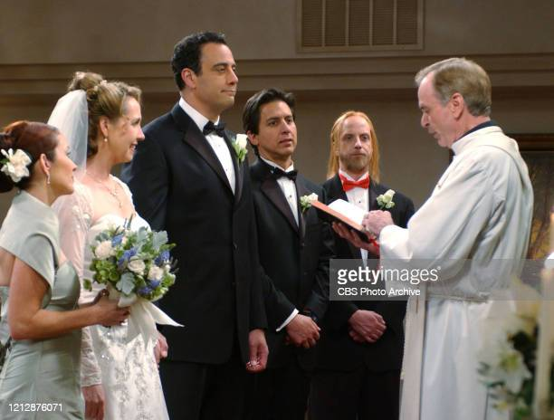 'Robert's Wedding' From left is Patricia Heaton Monica Horan Brad Garrett Ray Romano Chris Elliot and Chelcie Ross star in the CBS television series...