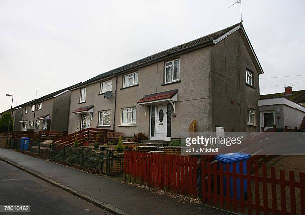 Robertson Avenue Bathgate a former residence of Peter Tobin who was charged last week for the murder of 15 year old Vicky Hamilton who went missing...