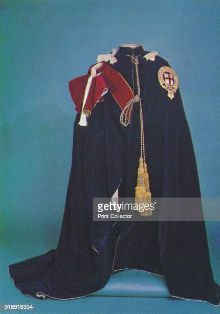 'Robes of the Order of the Garter' 1953 The piece is part of the Royal Collection at the Tower of London From The Crown Jewels by Martin Holmes FSA...