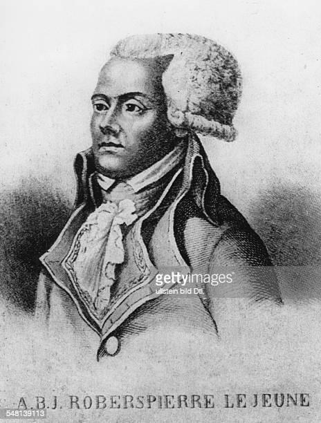 Robespierre Augustin de 1763 1794 Bruder von Maximilien de Robespierre