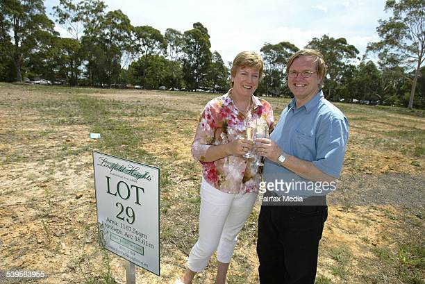 Robeta and Peter Delaney who bought the most expensive Lot 29 at $127 million in the auction of Land at Lindfield Heights 19 February 2005 SHD...